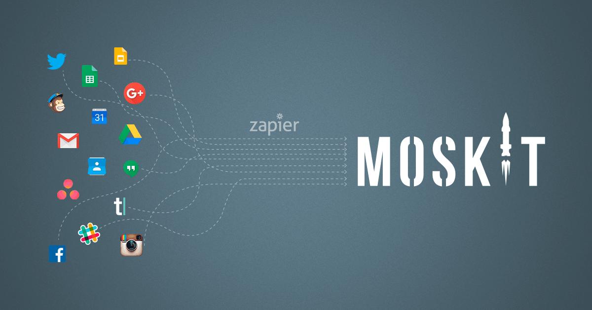Integrações Moskit CRM e Zapier